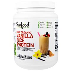 фото Sunfood, Raw Organic, Vanilla Rice Protein