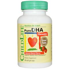 фото ChildLife, Pure DHA Chewable!, Natural Berry Flavor