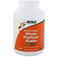 Now Foods, Certifed Organic Whole Psyllium Husks