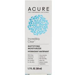 Acure Organics, Incredibly Clear, Mattifying Moisturizer