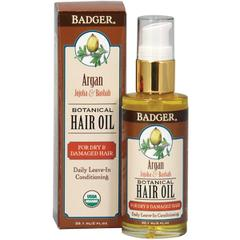 фото Badger Company, Argan Botanical Hair Oil